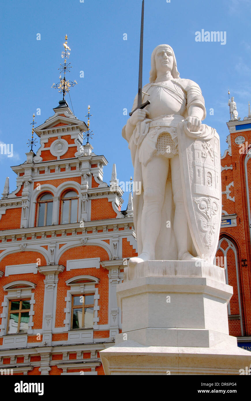 Statue in Riga, Latvia - Stock Image