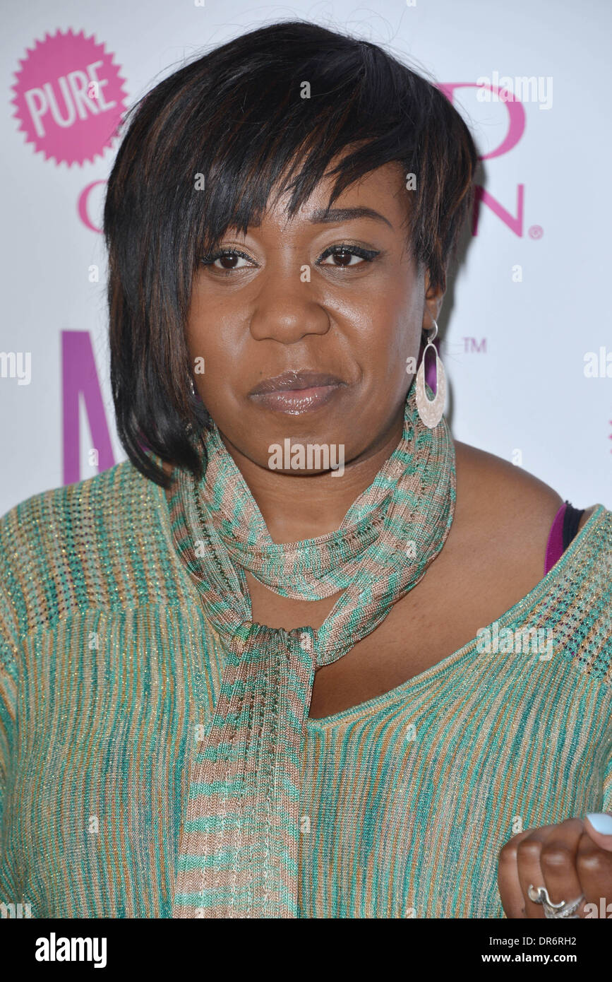 London, UK . 20th Jan, 2014.  Chizzy Akudolu arrive at the MediaSKIN NTA Gifting Lounge at Penthouse,1 Leicester Stock Photo