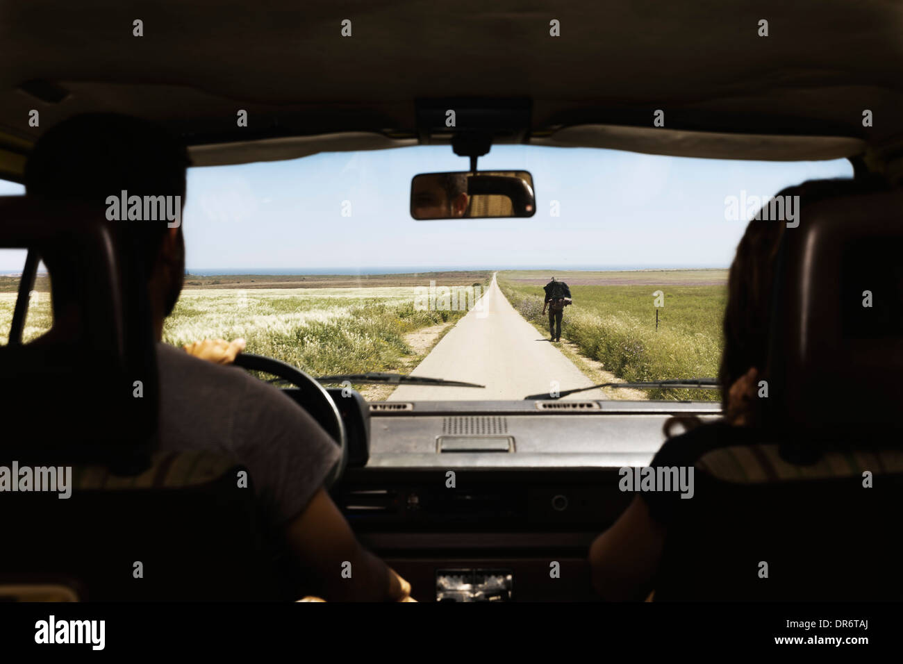 Southwest of Portugal, Couple on a road trip - Stock Image