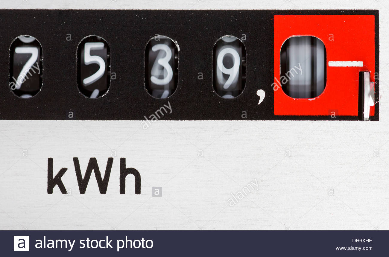 Close-up of an electric meter - Stock Image