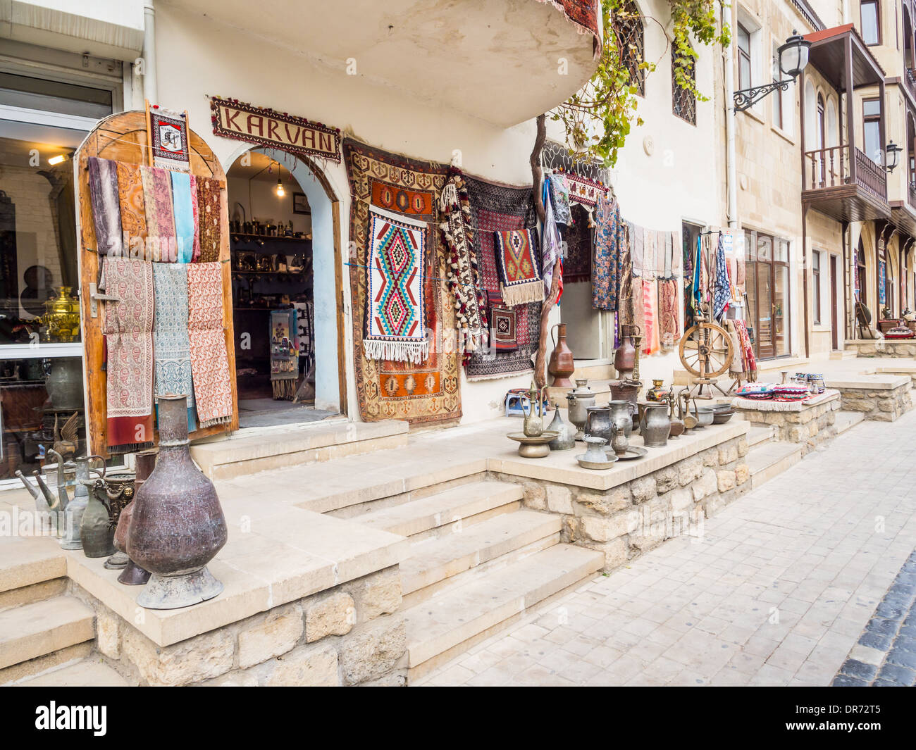 The Old Town (Icheri Sheher) Old Town of Baku, Azerbaijan. - Stock Image