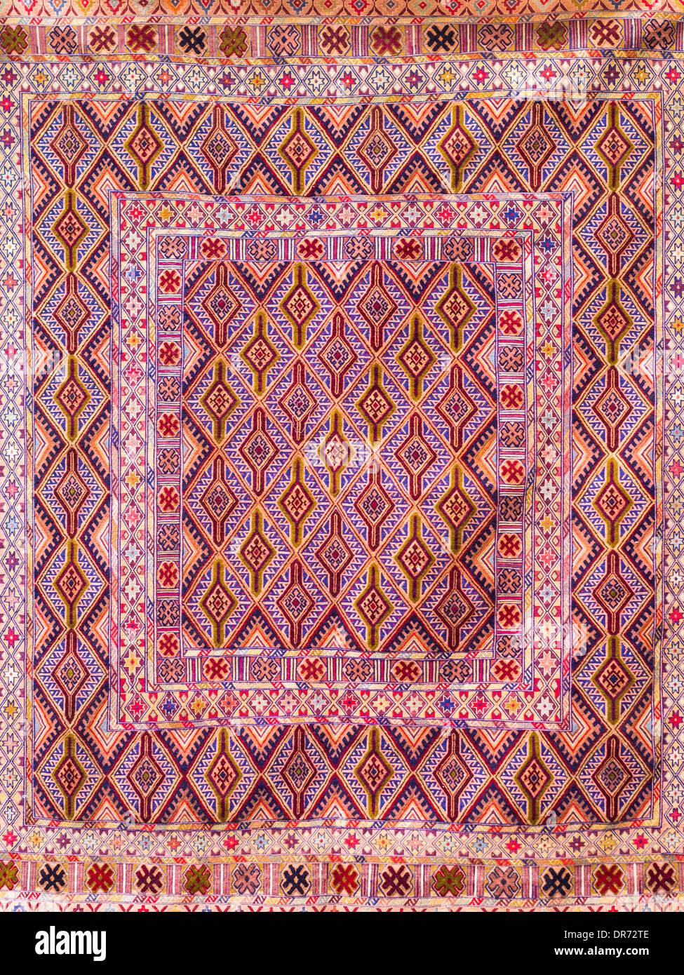 Traditional Azerbaijani rug. - Stock Image