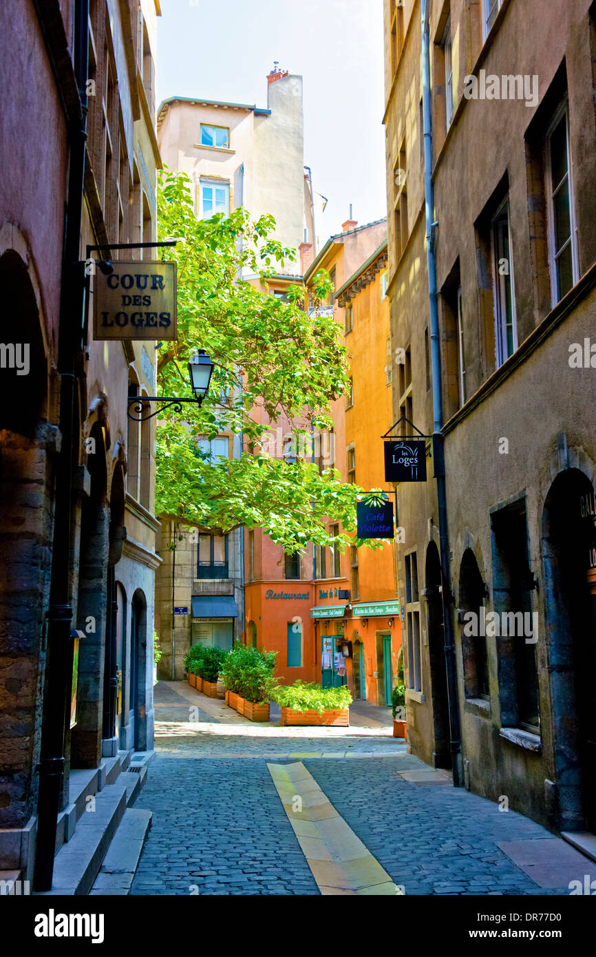 Old district of Lyon, France - Stock Image