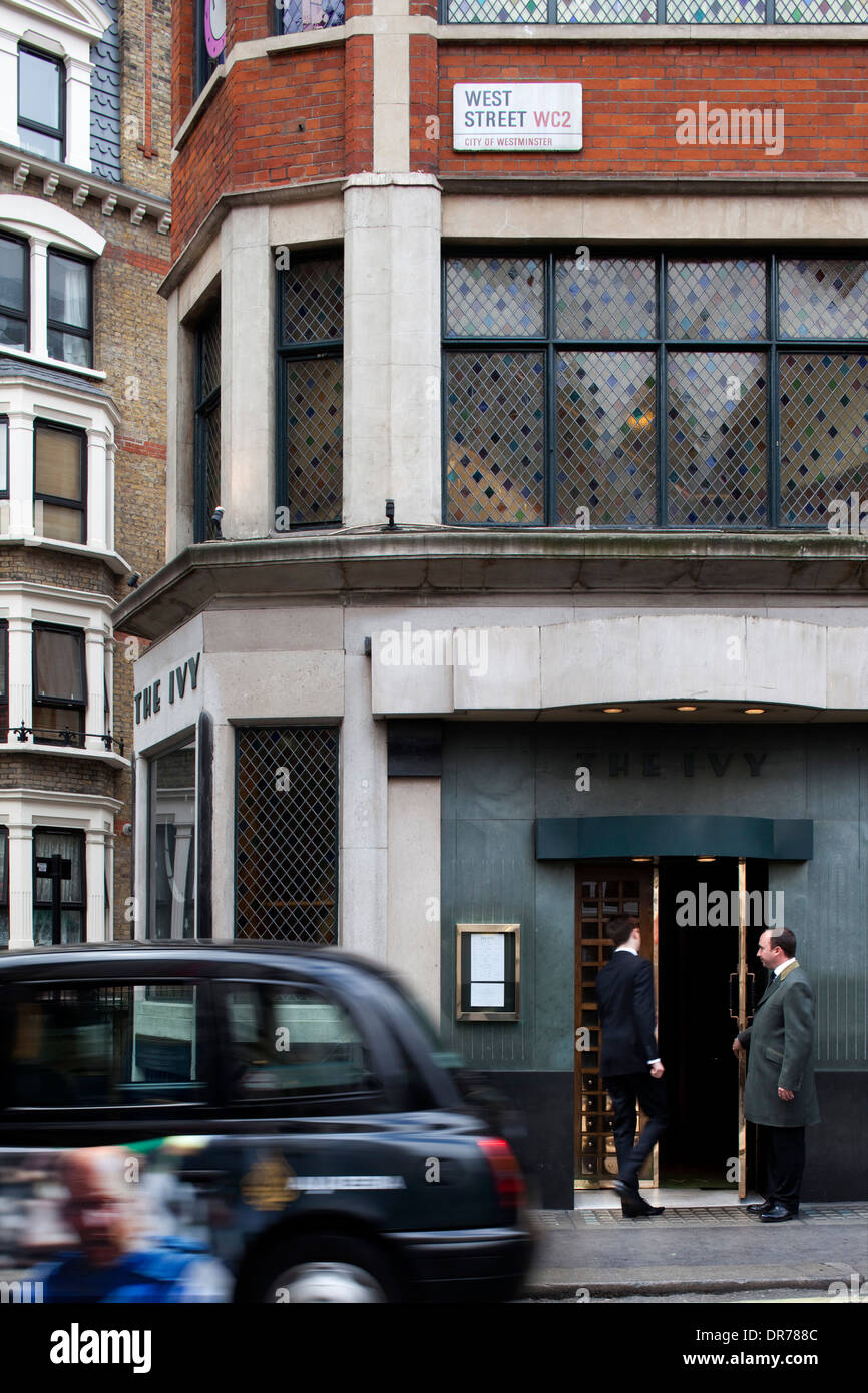 The Ivy entrance, London. - Stock Image