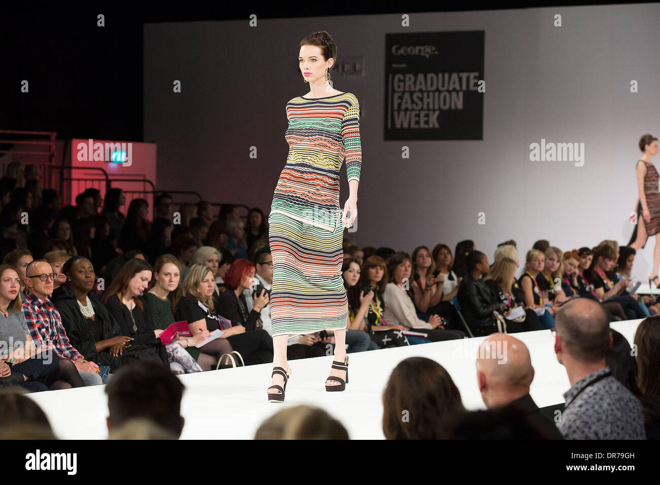 Model The Nottingham Trent University Fashion Show At Graduate Stock Photo Alamy