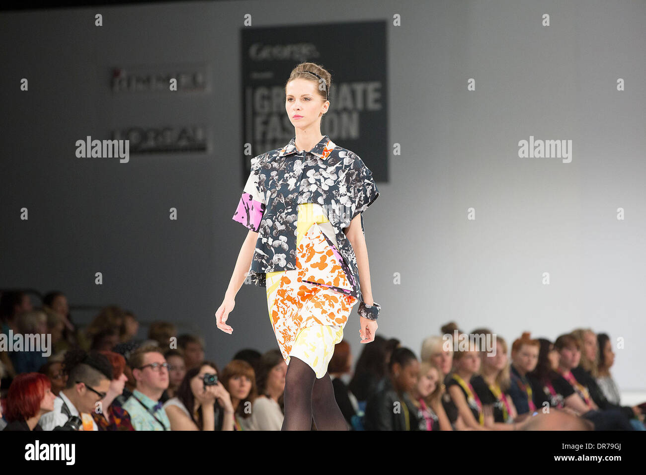 Model The Nottingham Trent University Fashion Show At Graduate Stock Photo 65929378 Alamy