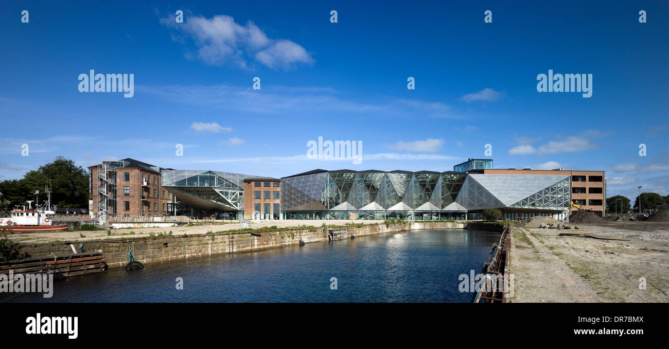 Exterior view of The Culture Yard, Elsinore, Denmark Stock Photo