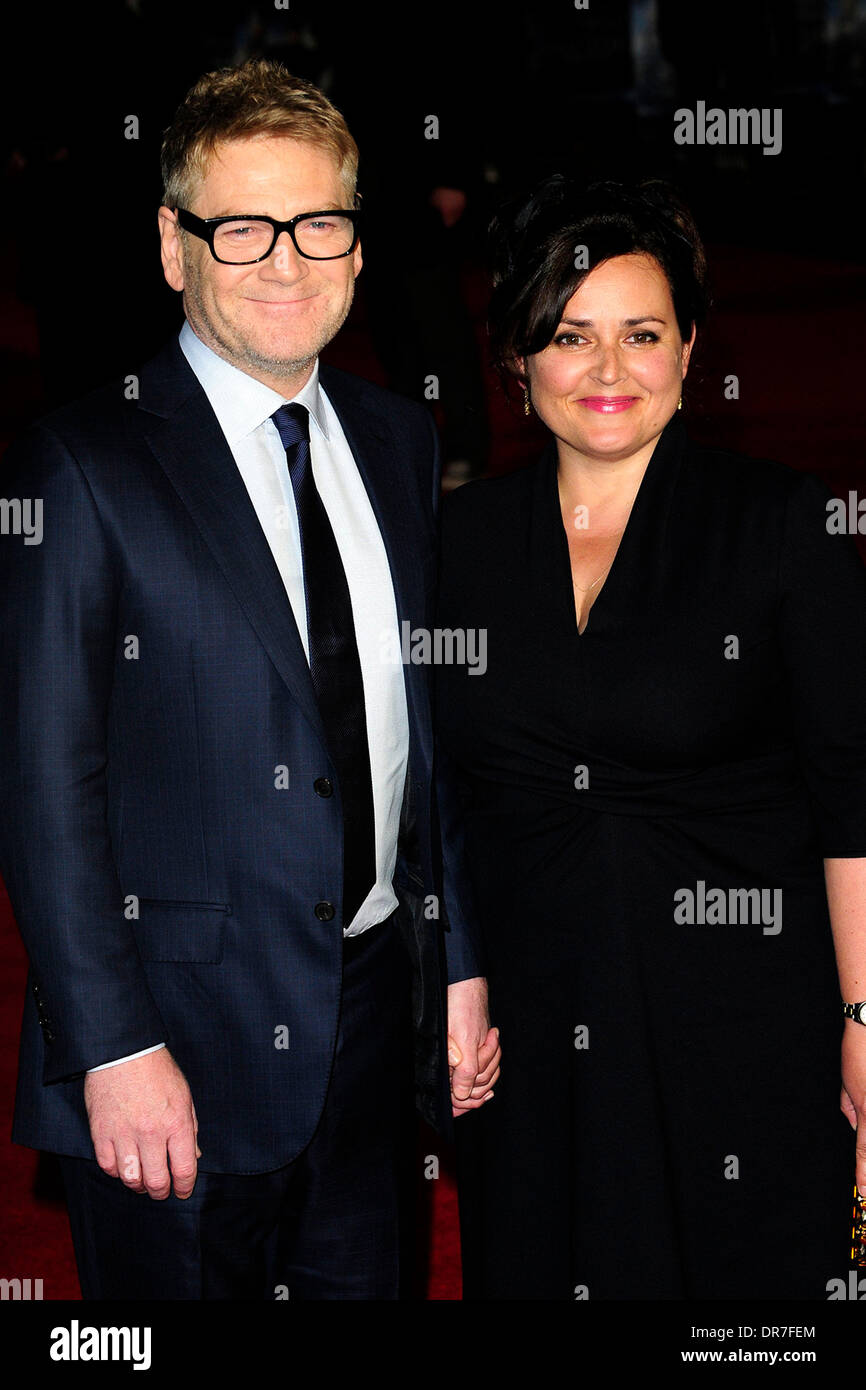 London, UK. 20th Jan, 2014. Kenneth Branagh attends the UK Premiere of ' Jack Ryan: Shadow Recruit'  at the Vue  London 20-1-2014Linzi Stoppard attends the UK Premiere of ' Jack Ryan: Shadow Recruit'  at the Vue  London 20-1-2014 Credit:  Peter Phillips/Alamy Live News - Stock Image