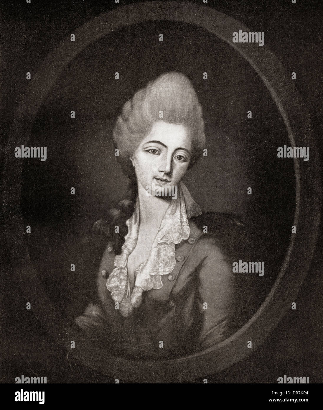 Jeanne Bécu, comtesse du Barry aka Madame du Barry, 1743 – 1793. - Stock Image