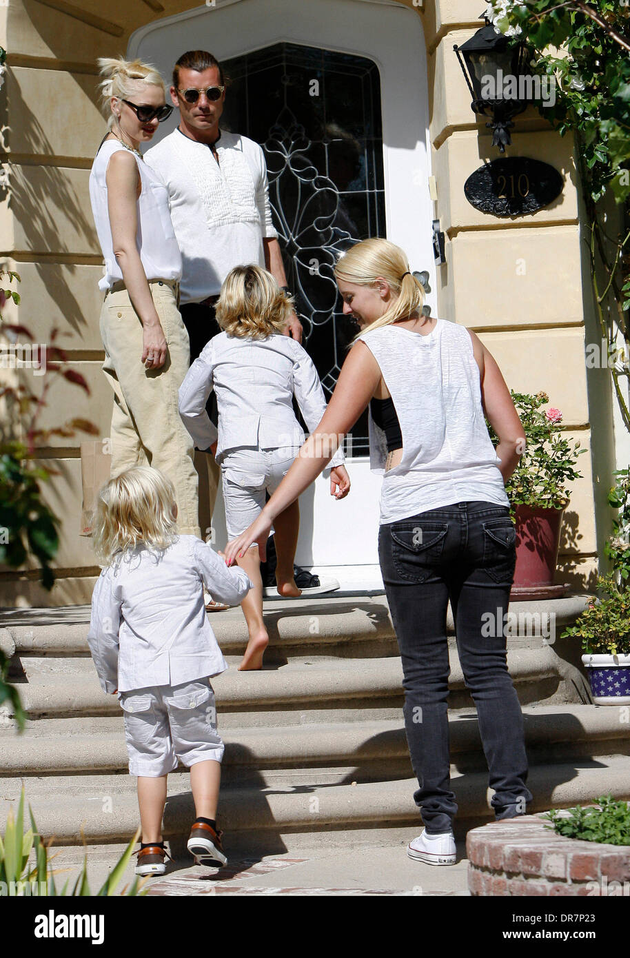 Gwen Stefani Gavin Rossdale And Their Children Kingston And