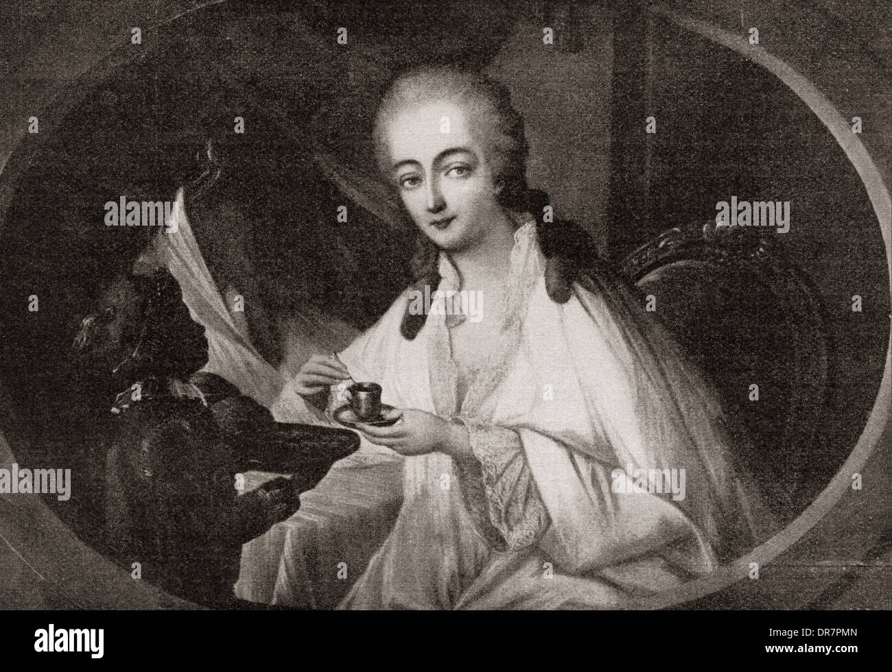 Jeanne Bécu, comtesse du Barry aka Madame du Barry, 1743 – 1793, after Auguste de Creuse. - Stock Image