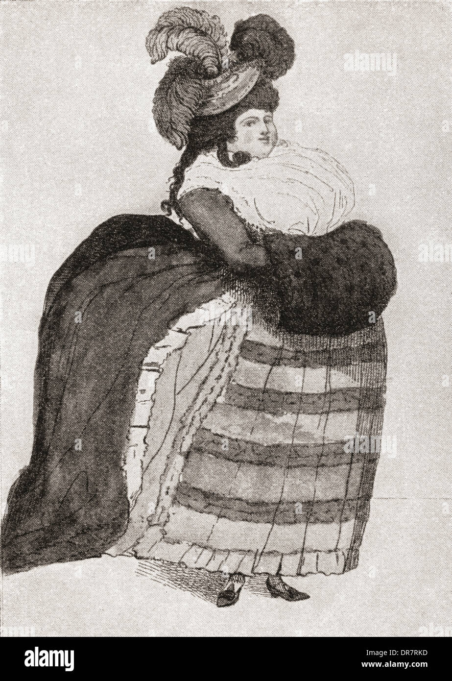 Maria Anne Fitzherbert, previously Weld, née Smythe, 1756 – 1837. Longtime companion of the future King George IV of the England - Stock Image