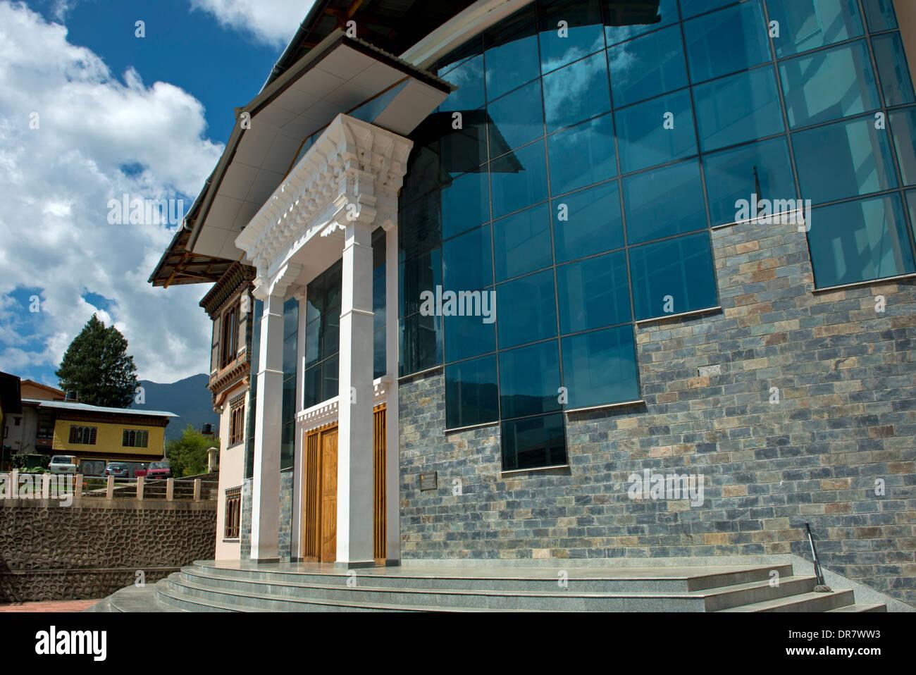 Headquarters of the Royal University of Bhutan, Thimphu, Bhutan - Stock Image