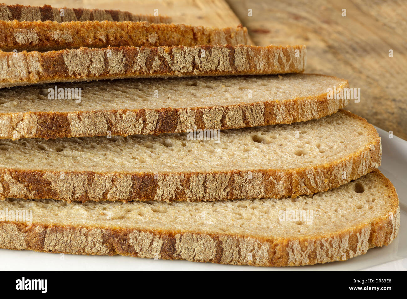 Sliced wholemeal bread - Stock Image