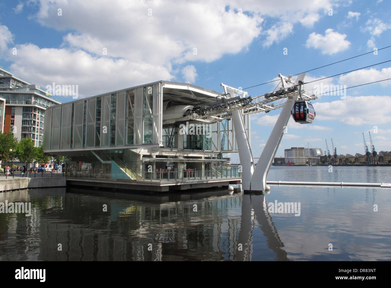 Emirates Royal Dock Station, The Northern Terminus For The Thames Cable Car River Crossing. - Stock Image