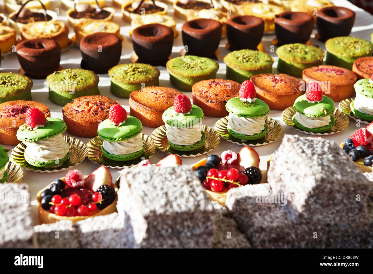 Traditional Parisian patisserie, confectionery, cake, dessert - Stock Image