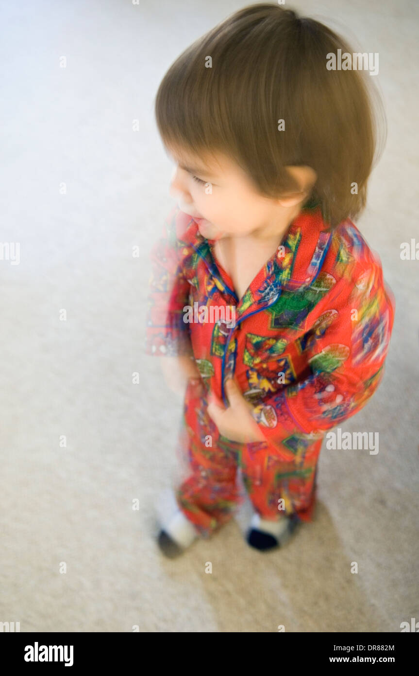 Blurred Photo of Toddler in Pajamas - Stock Image