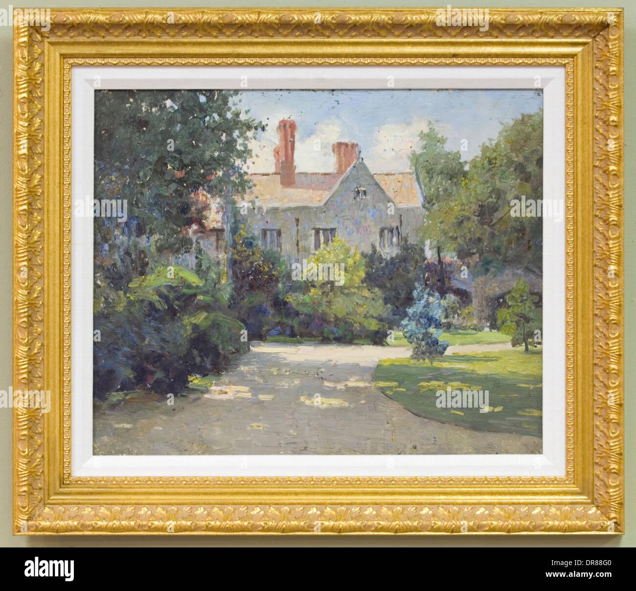 Paul Sawyier Original Painting - Stock Image