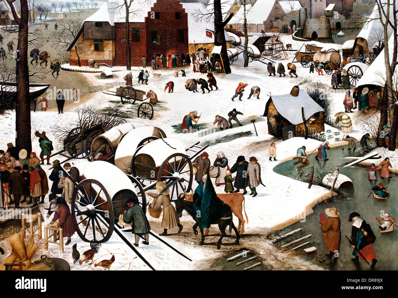 Pieter Brueghel the Younger 1564 - 1638 Antwerp Belgian Belgium The enumeration of Bethlehem - Stock Image