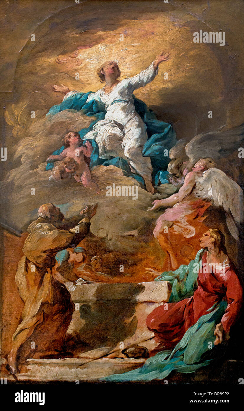 The Assumption of the Virgin by Noel Halle 1711-1781 France French - Stock Image