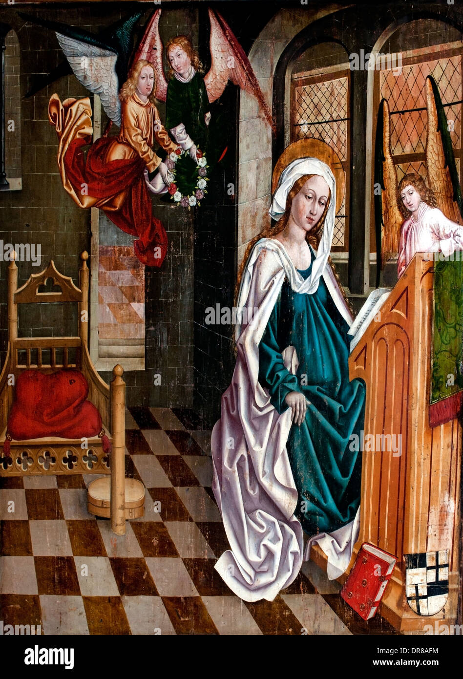 Lady of the Rosary (reverse) 15th Century Germany Tyrol - Stock Image