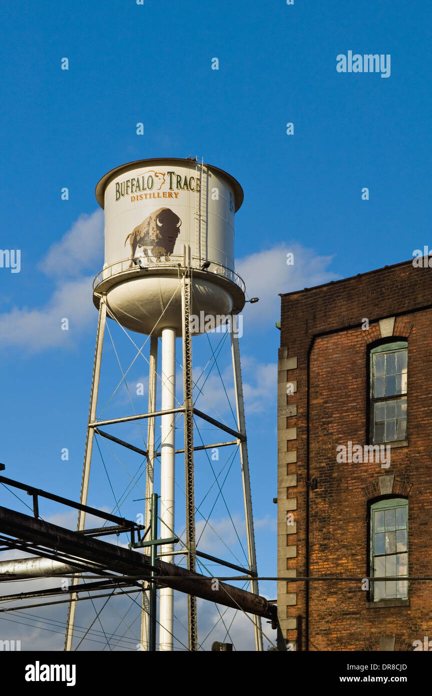 Water Tower at Buffalo Trace Distillery in Frankfort, Kentucky - Stock Image