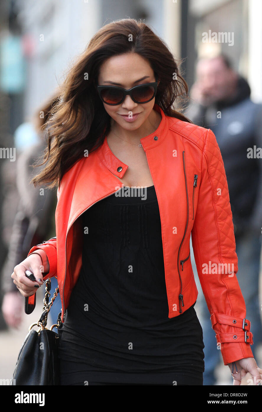 London, UK, 21st January 2014. Myleene Klass, English singer, pianist, media personality and model, seen out and about in London - Stock Image