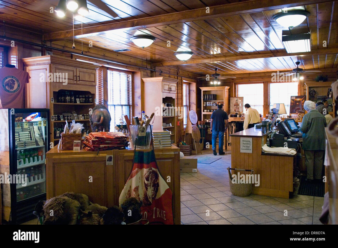 Buffalo Trace Distillery Visitor Center Gift Shop in Frankfort, Kentucky - Stock Image