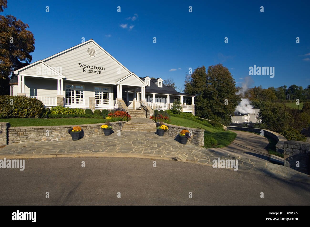 Woodford Reserve Visitor Center and Distillery in Woodford County, Kentucky - Stock Image