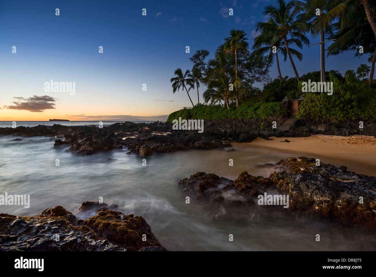 Beautiful and secluded Secret Beach in Maui, Hawaii. - Stock Image
