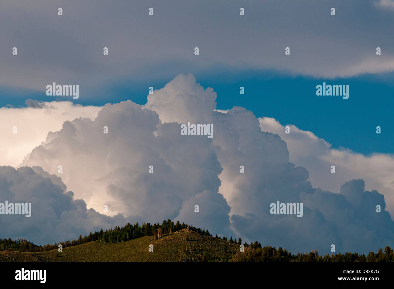 Thunderhead cloud above Stanley Basin Idaho - Stock Image