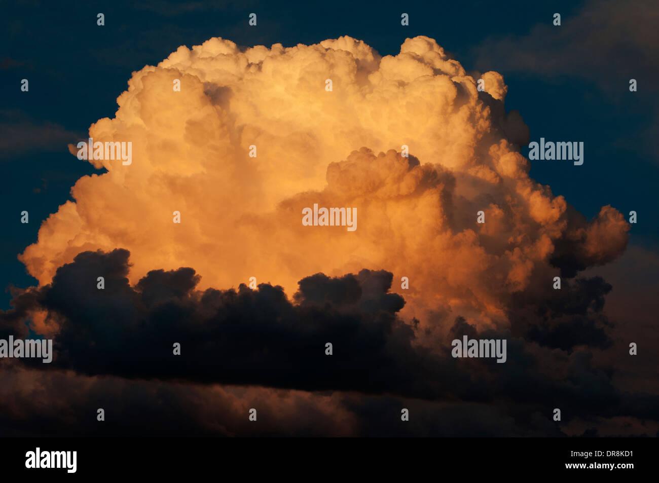 Thunderhead cloud at sunset above Stanley Basin Idaho - Stock Image