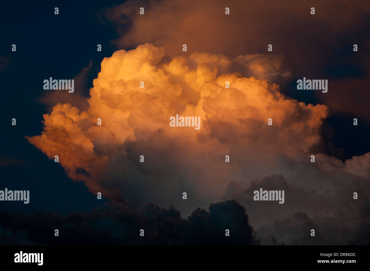 Thunderhead cloud at sunset above Stanley Basin Idaho - Stock Image