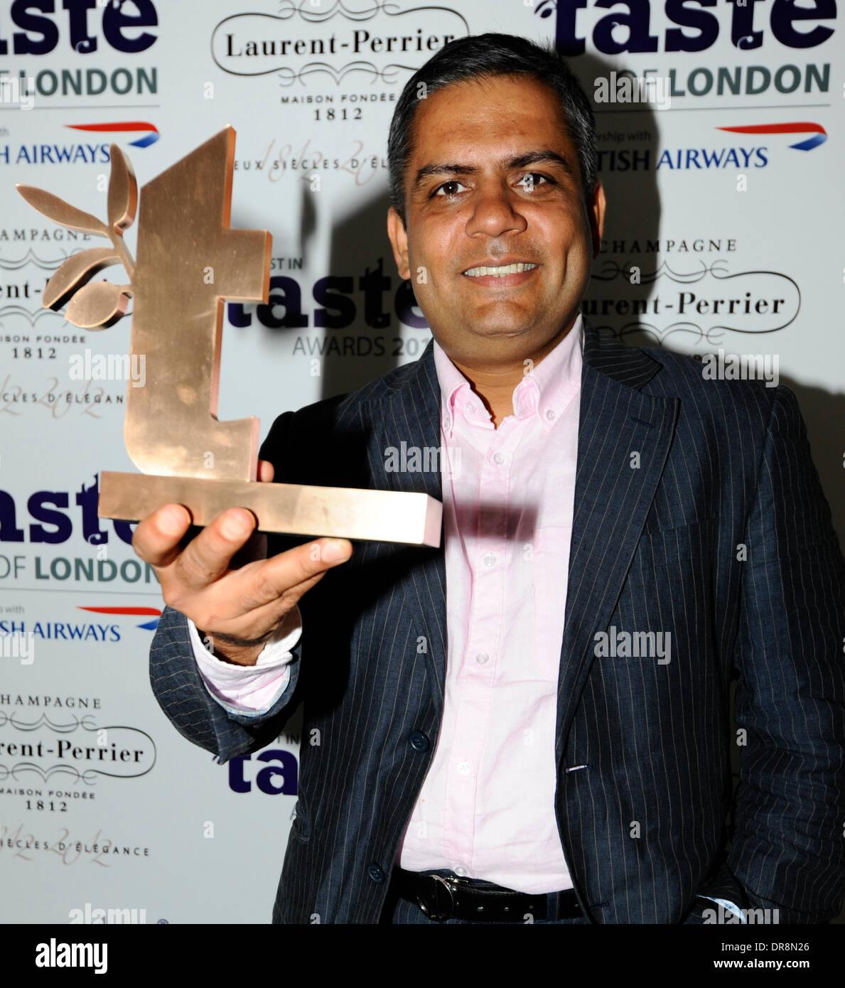 Vivek Singh 'Taste Awards'  held at Regents Park - Arrivals London, England - 20.06.12 - Stock Image