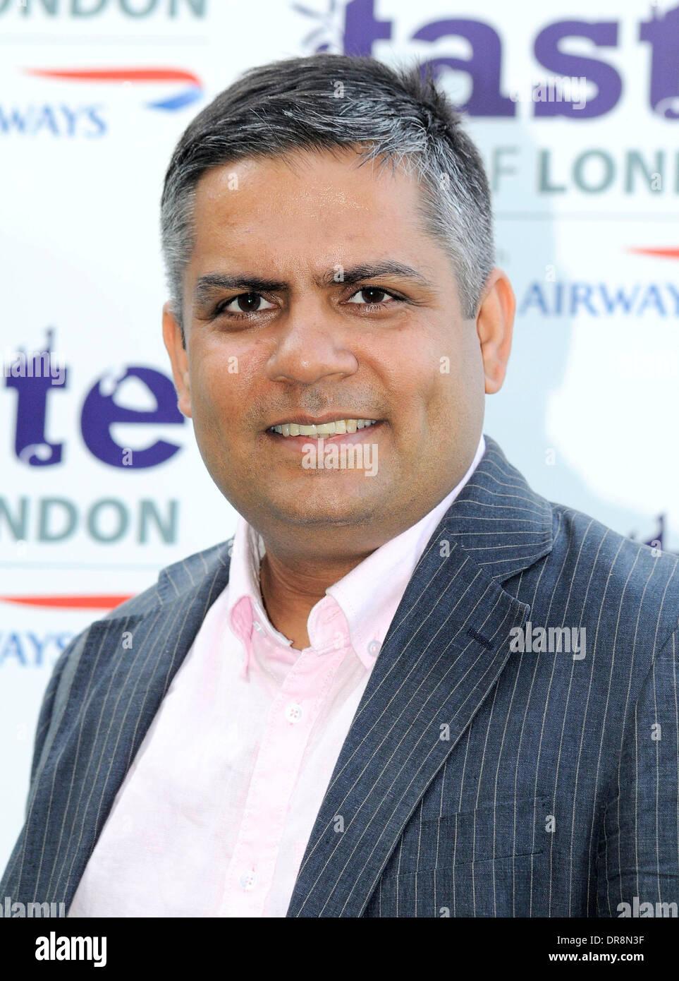 Vivek Singh,  at the 'Taste Awards' held at Regents Park - Arrivals London, England - 20.06.12 - Stock Image