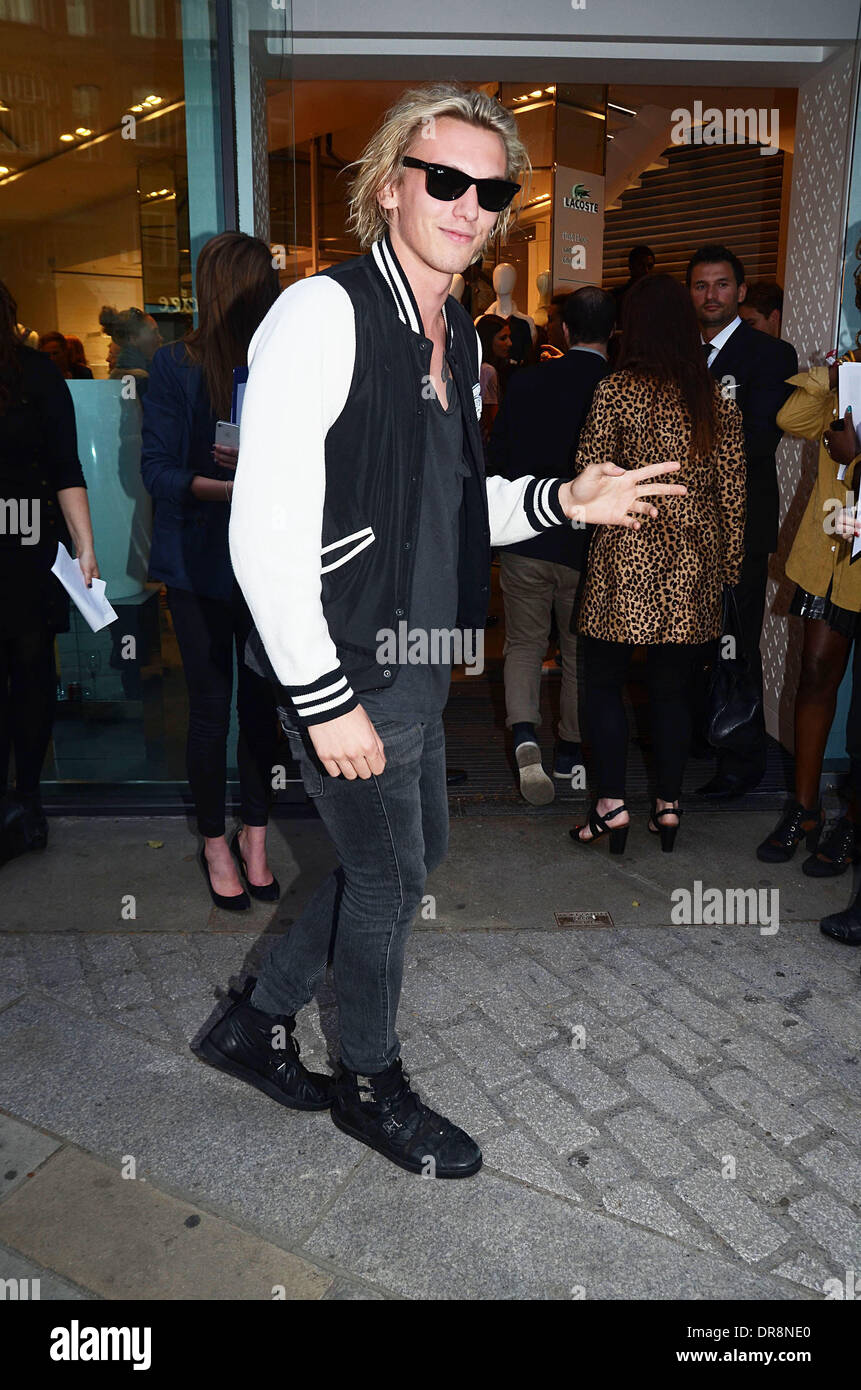 84f348472c98be Jamie Campbell Bower Lacoste - Flagship Store Launch Party - Departures  London
