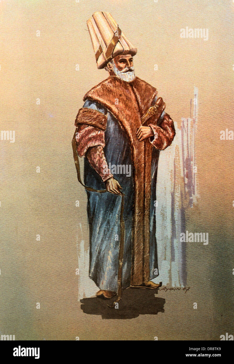 Grand Vizier Ottoman Turkish Official during Ottoman Empire - Stock Image