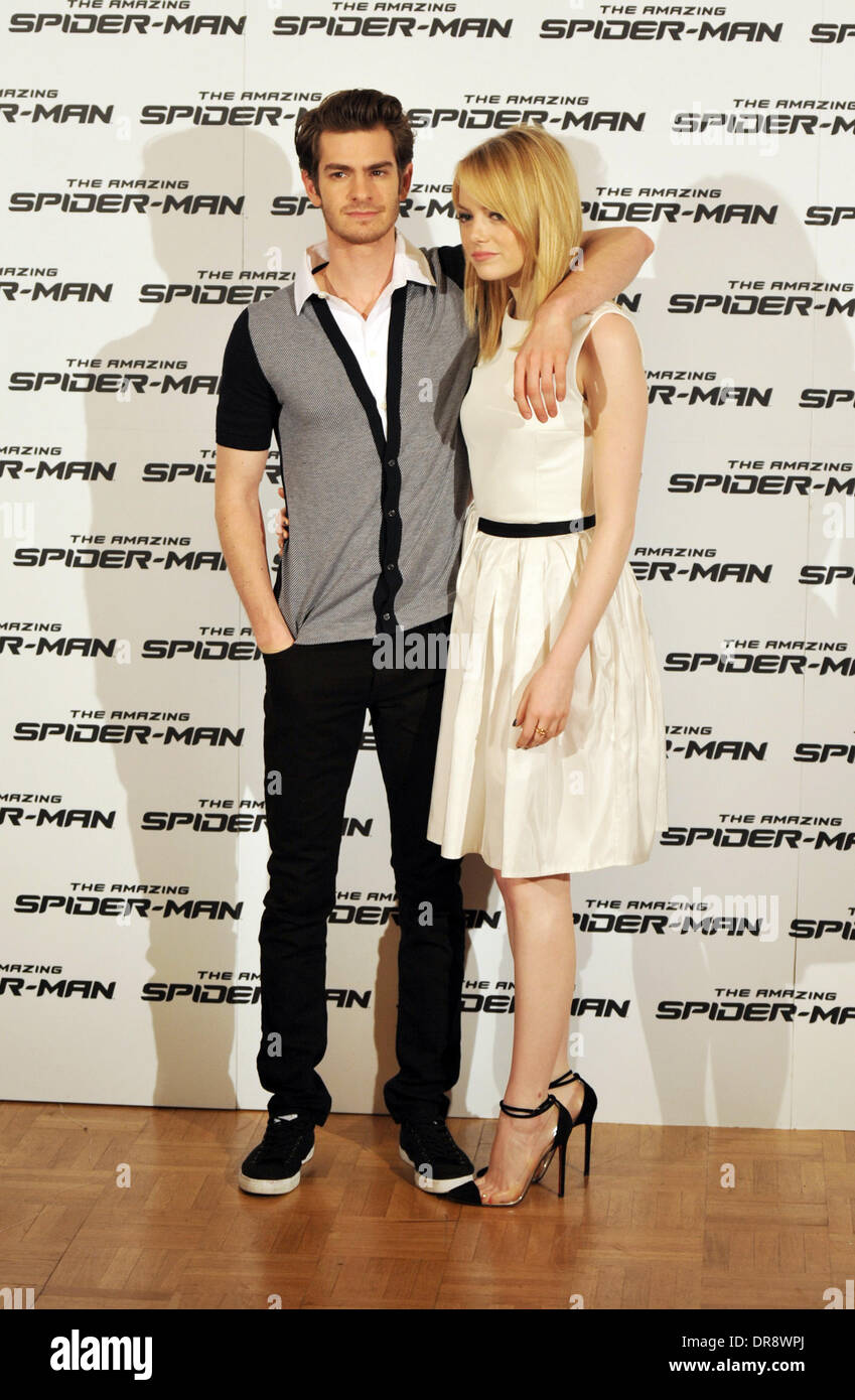Andrew Garfield Emma Stone The Amazing Spider Man Stock Photos