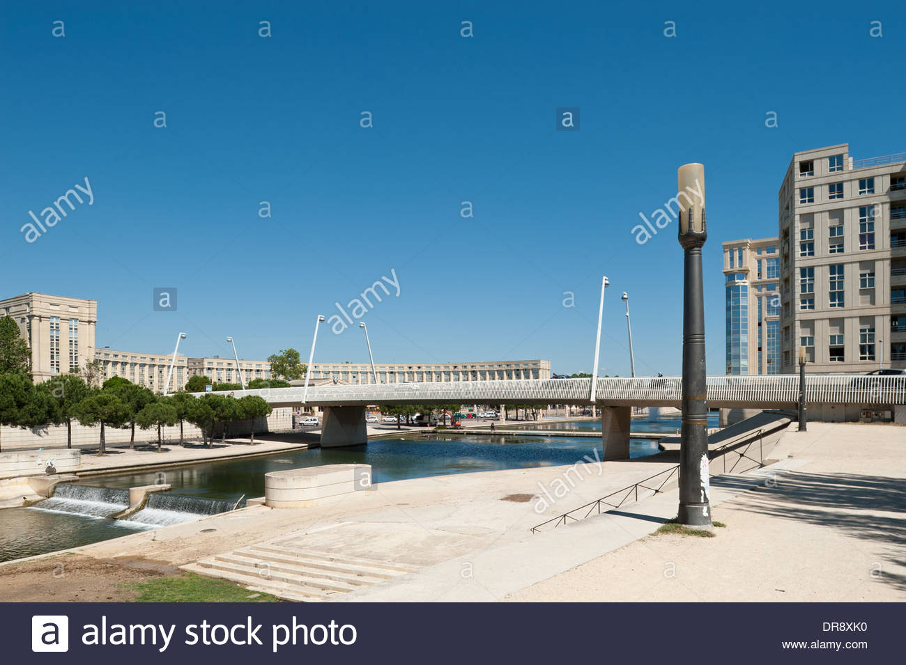 Montpellier Moderne Architektur Modern Architecture Stock
