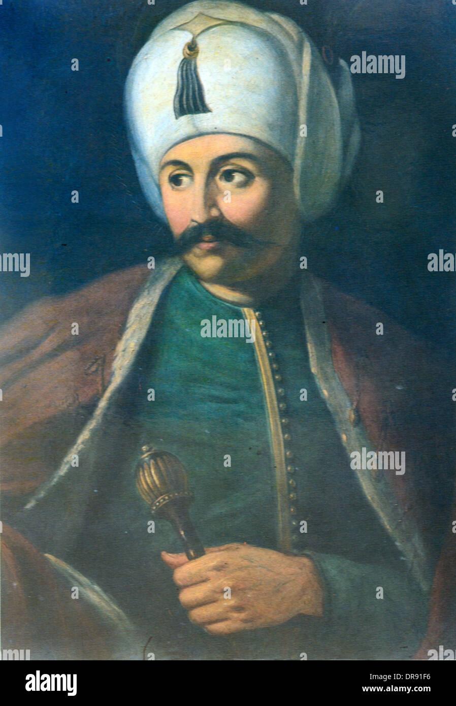 Turkish Ottoman Sultan Selim I (1460s-1530) Portrait - Stock Image