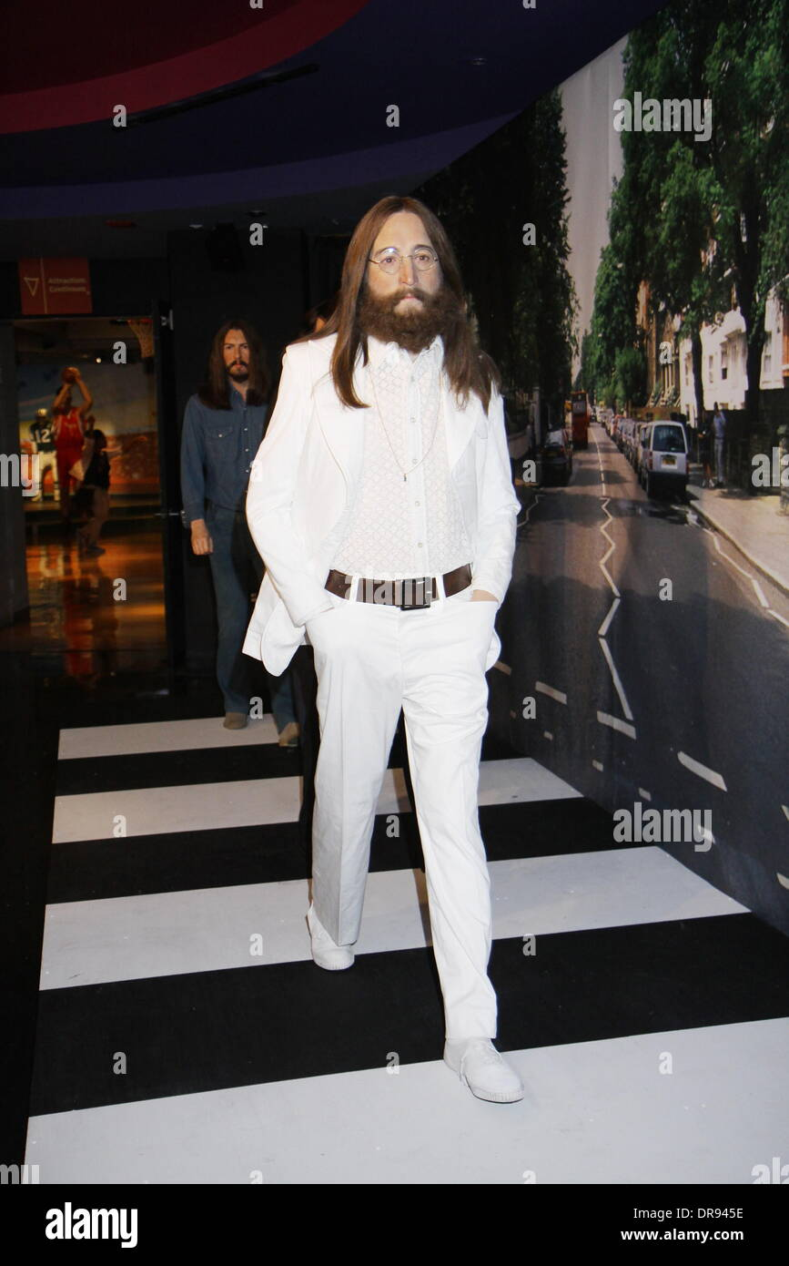 Celebrating John Lennons 70th Birthday >> John Lennon Wax Figure Wax Figures Of The Beatles Are Unveiled At