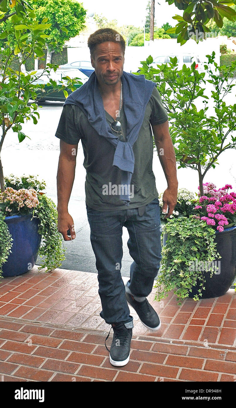 Actor Gary Dourdan seen shopping at Fred Segal on Melrose Avenue Los Angeles, California - 14.06.13 Stock Photo