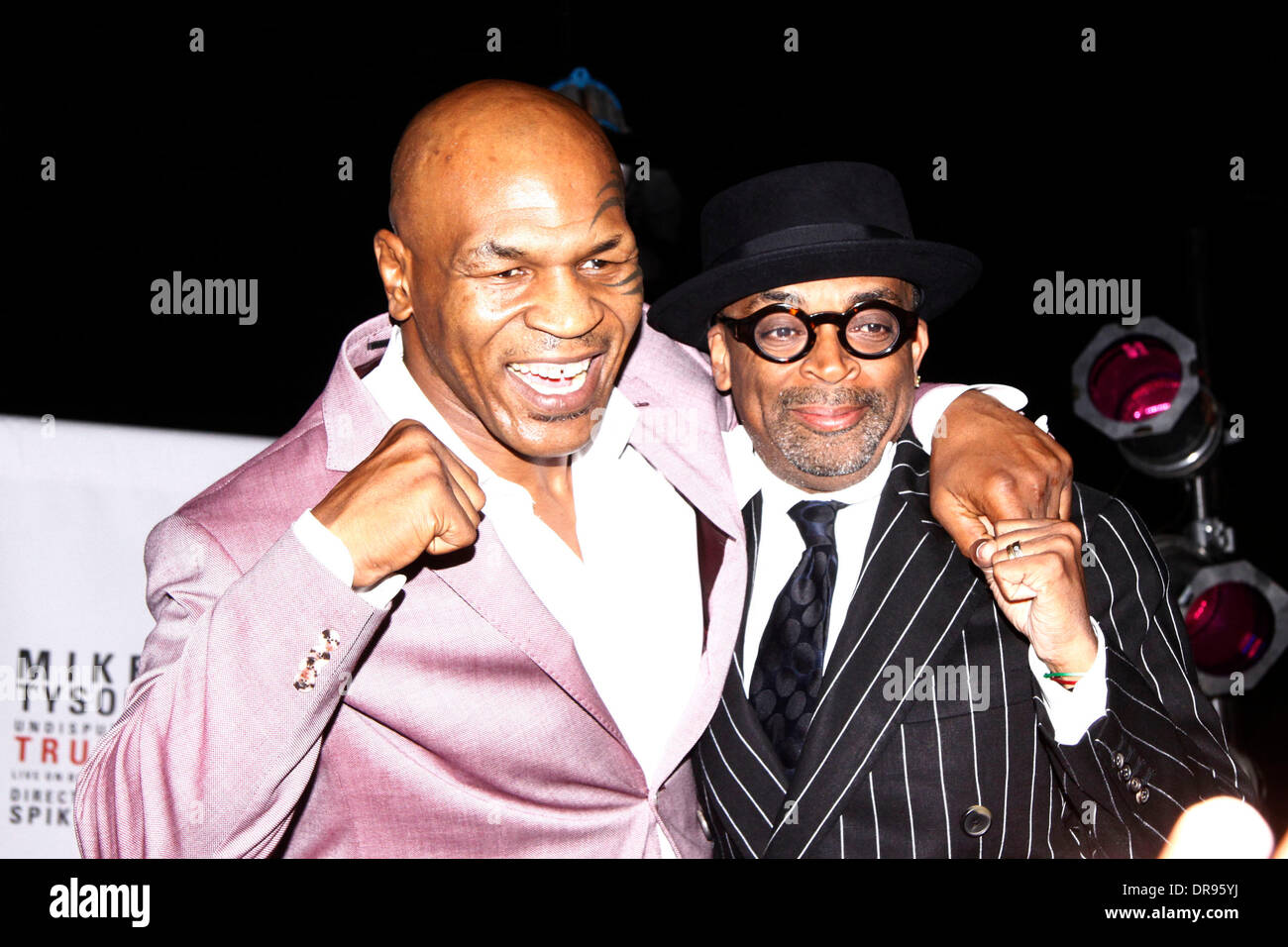 Mike Tyson And Spike Lee Mike Tyson Undisputed Truth Live On Stock Photo Alamy