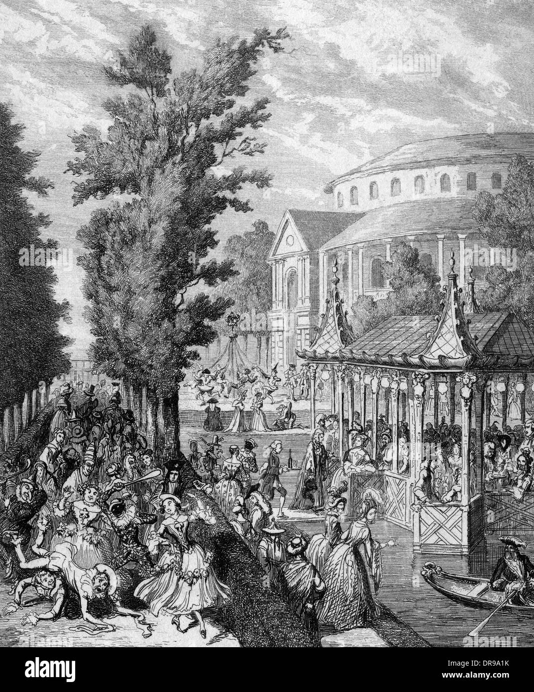 RANELAGH IN 1750 - Stock Image
