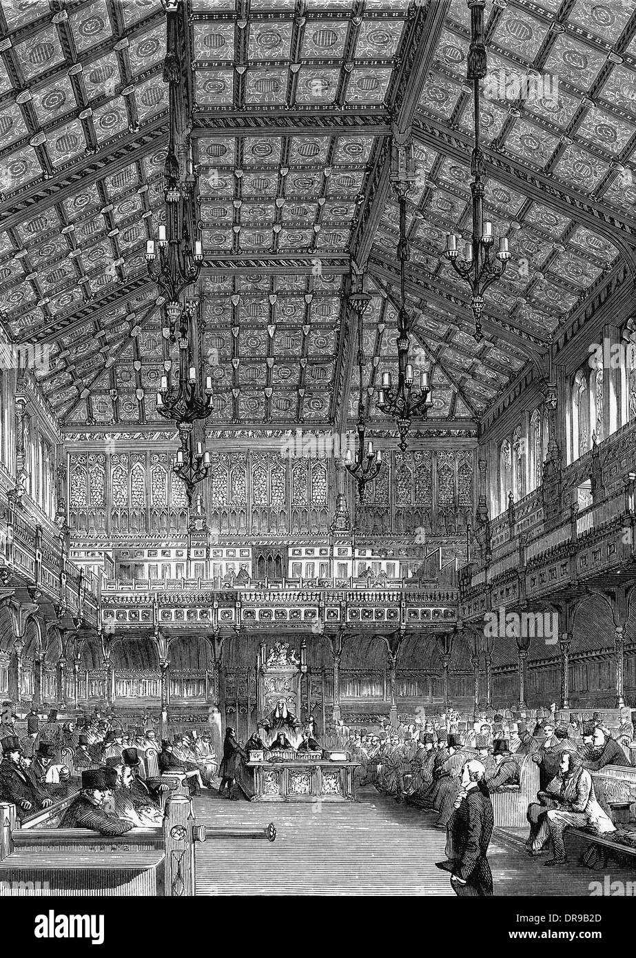 HOUSE OF COMMONS 1852 - Stock Image