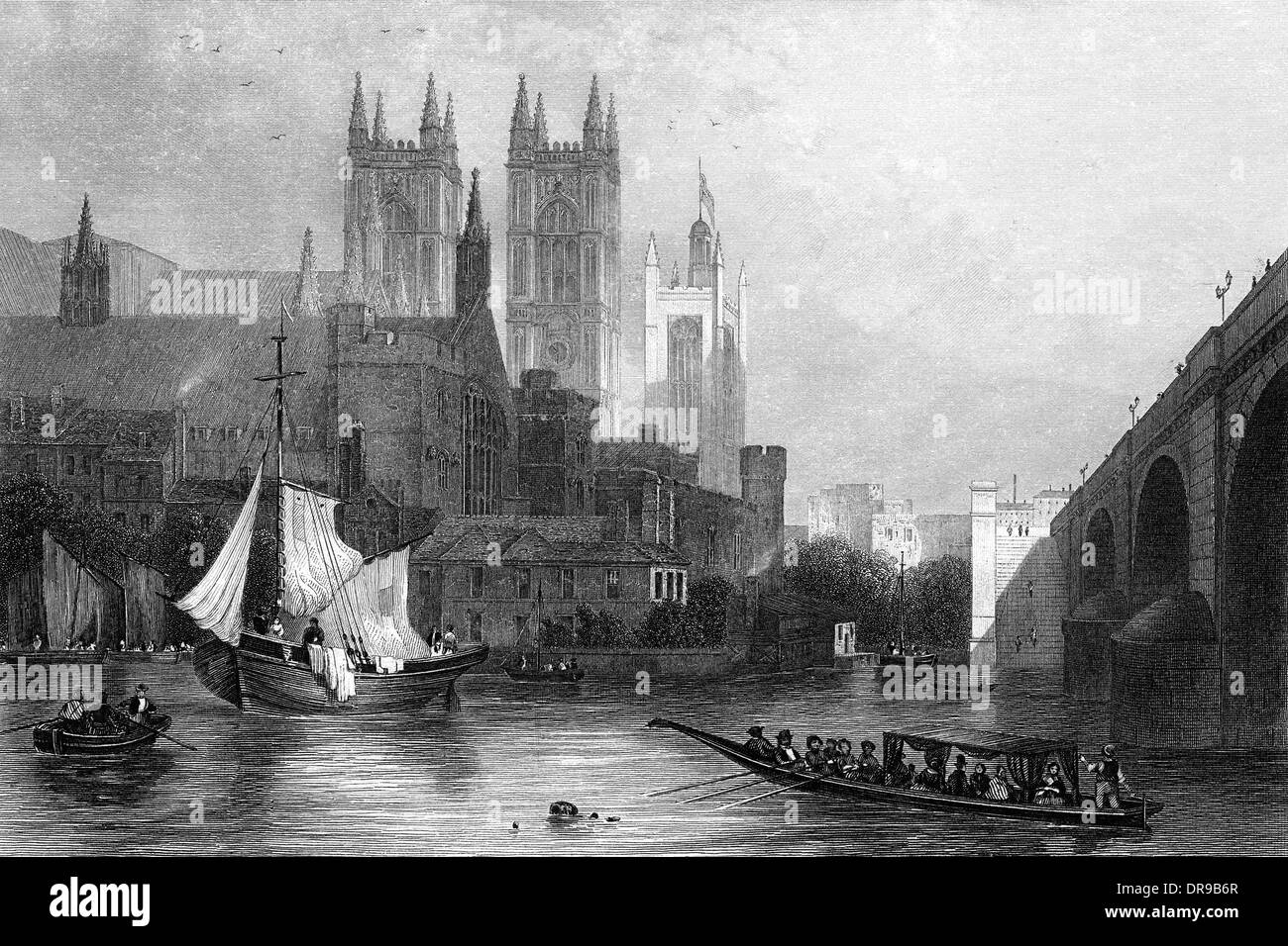 WESTMINSTER ON THAMES - Stock Image