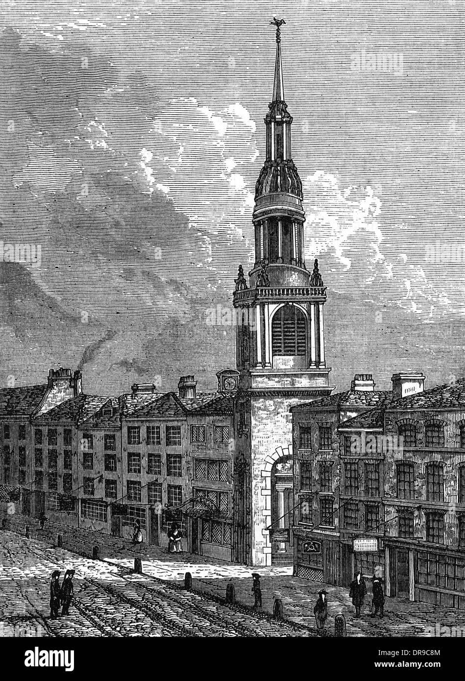 BOW CHURCH 1750 - Stock Image