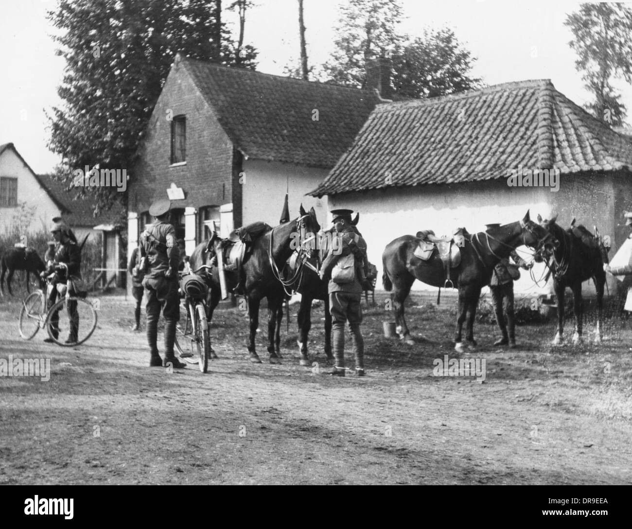 British troops in France 1914 - Stock Image