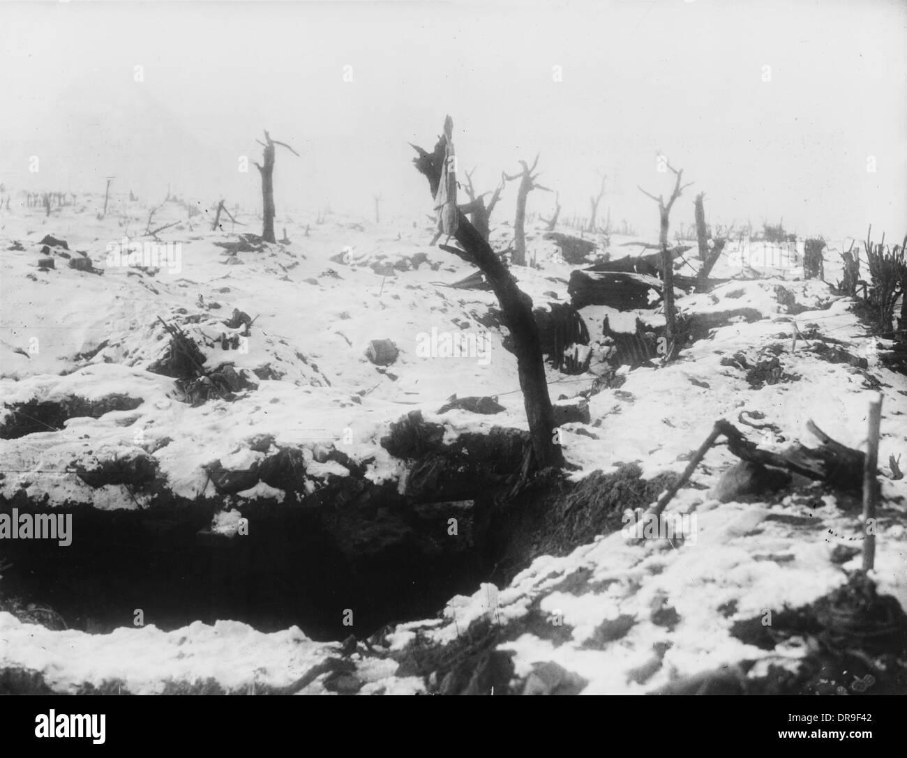 Dug-outs 1917 - Stock Image