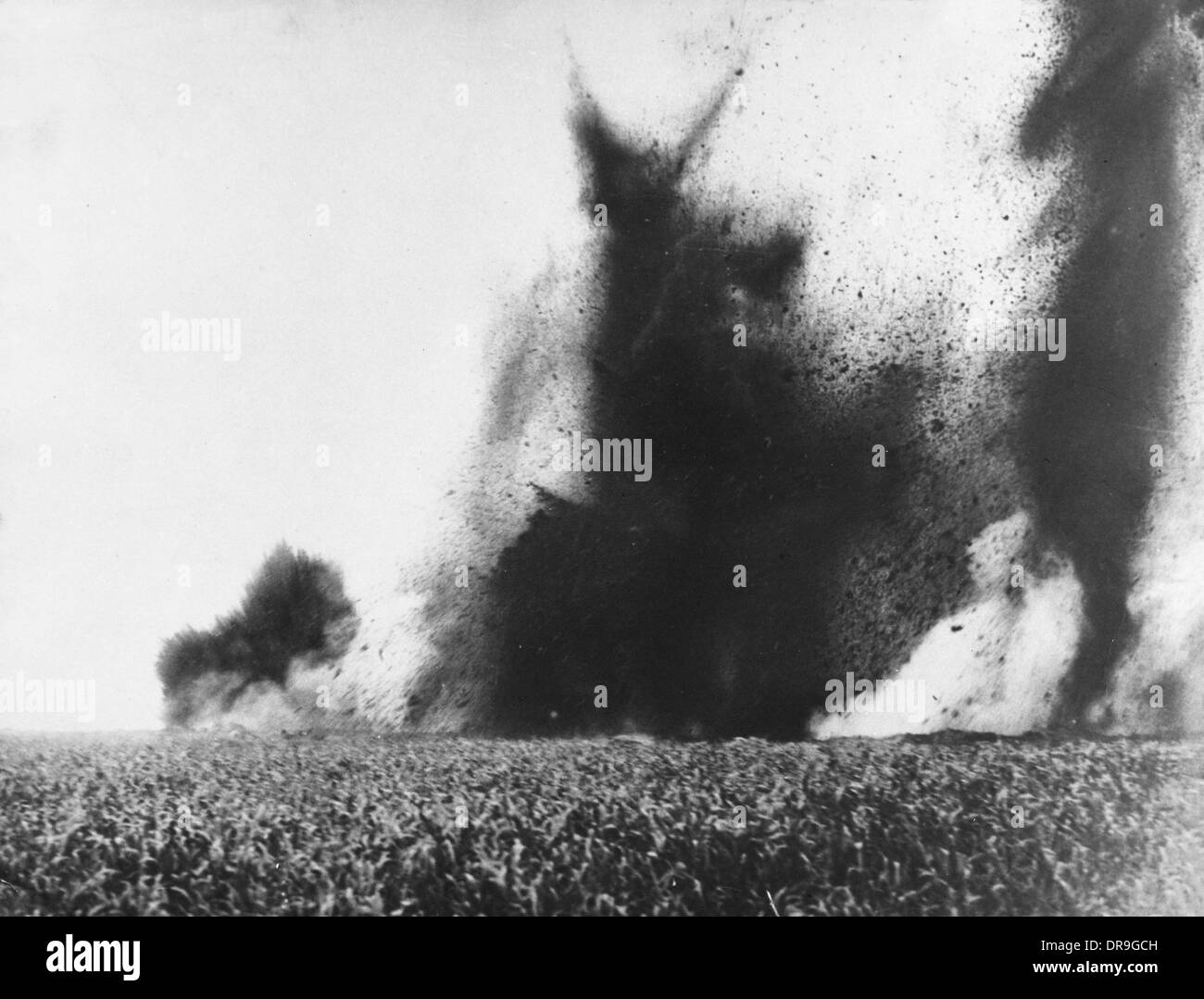 Mine exploding 1917 - Stock Image